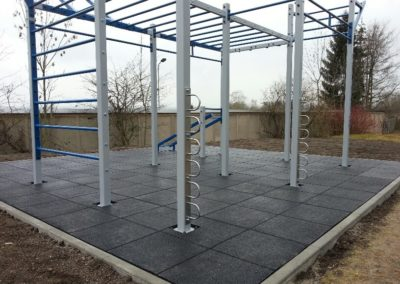 2. OriginalWorkout Outdoor Custom Cage Weimar Fitness