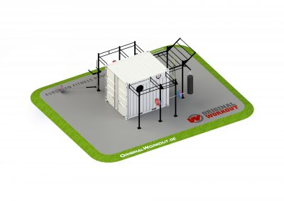Milfit gym fitness container ® 10 ft