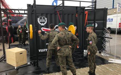 Militärische Fitnesscontainer zogen Bundeswehr und US-Pat. Armee